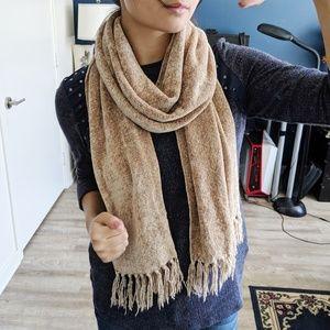Beige Fringe Fall Winter Sweater OS
